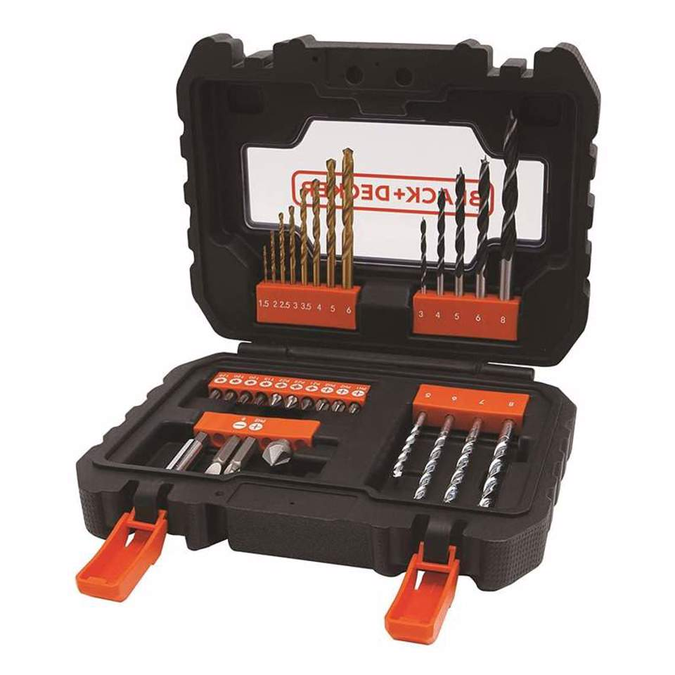 Conjunto de 31 brocas Black+Decker