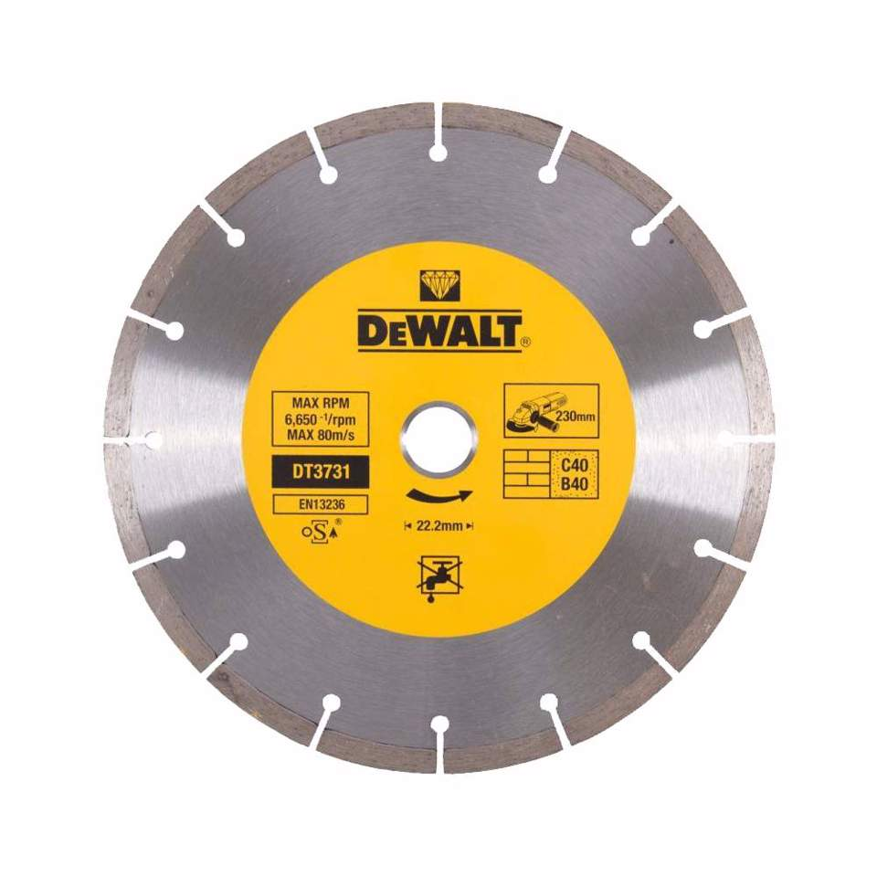 Disco de diamantado 230X22,2mm Dewalt DT3731-QZ